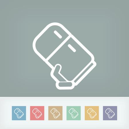 cold storage: Refrigerator icon