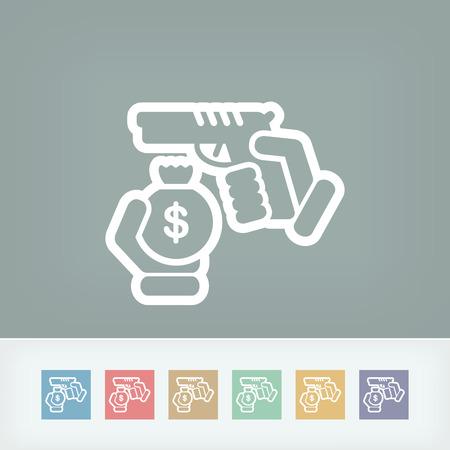 robbery: Robbery icon Illustration