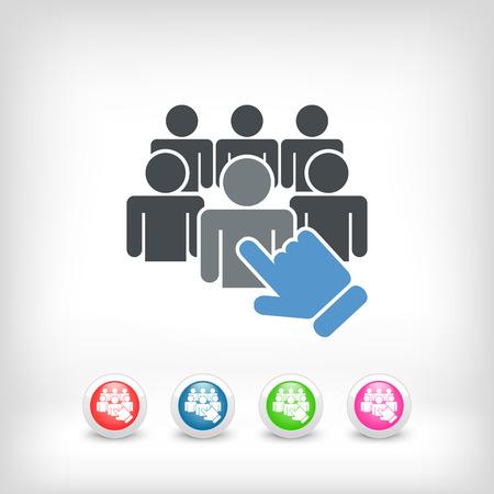 Icono de selección de personal