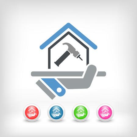 Home repair icon  イラスト・ベクター素材