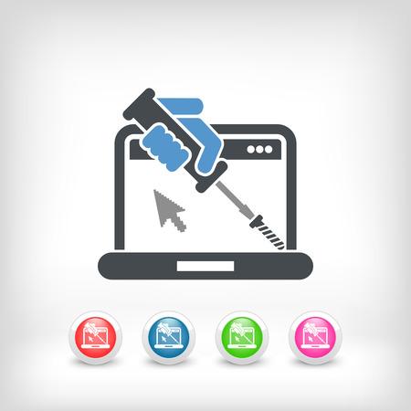 upkeep: Computer assistance icon Illustration