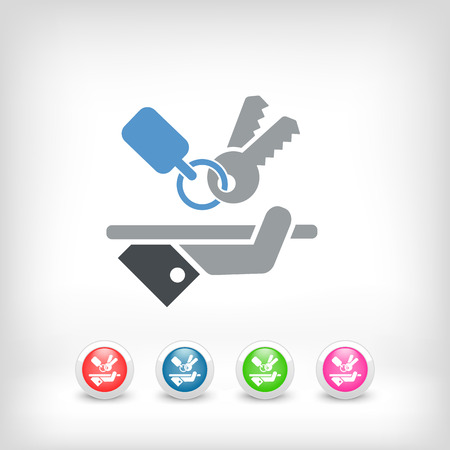 car door: Keys icon Illustration