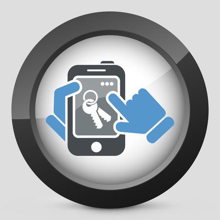icon key: Smartphone icon. Key access.
