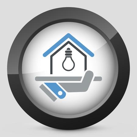 alternatively: Electricity supply icon Illustration