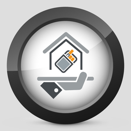 allow: Smoking area icon Illustration