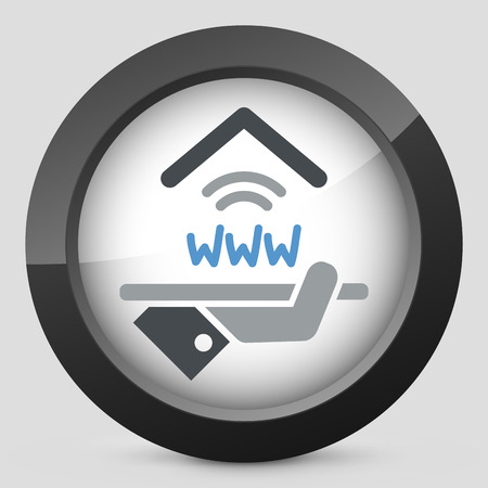 apartment suite: Hotel icon. Wi-fi service. Illustration