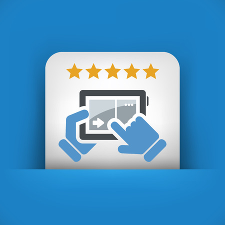 rated: Tablet icon. Top rated. Illustration