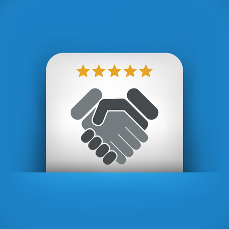 best service: Satisfaction for best service. Illustration