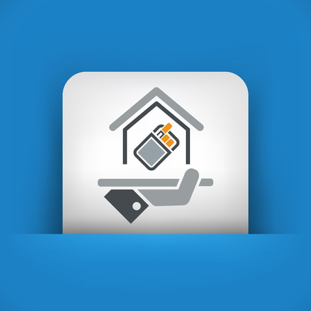 Smoking area icon Illustration