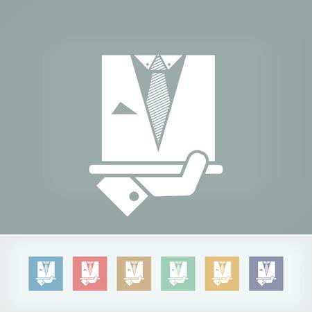 Fashion man dress icon Vector