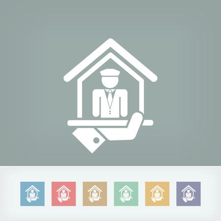 porter house: Doorman icon Illustration