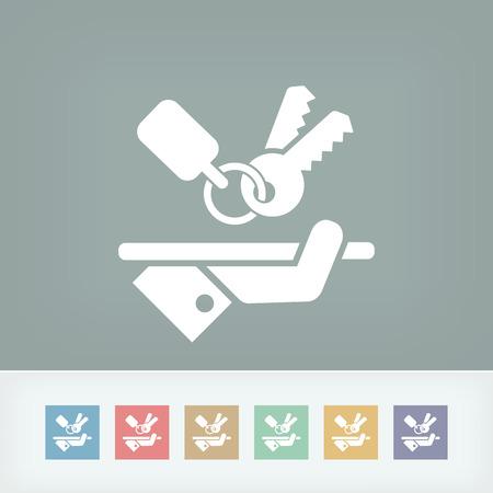 secret codes: Keys icon Illustration