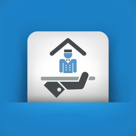 porter house: Hotel icon. Porter service. Illustration
