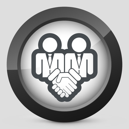 conscription: Corporate agreement icon