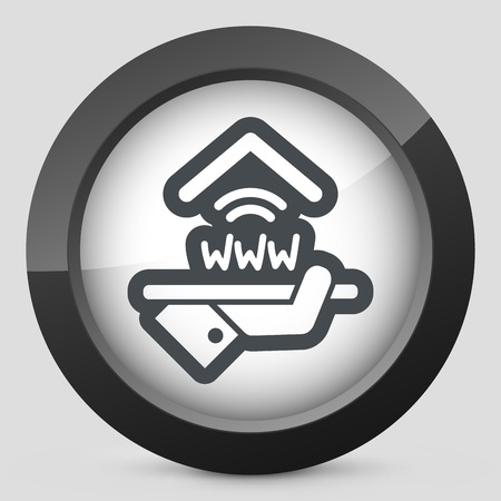 Hotel icon. Wi-fi service. Illustration