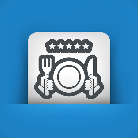 category: Restaurant icon. Top rating. Illustration