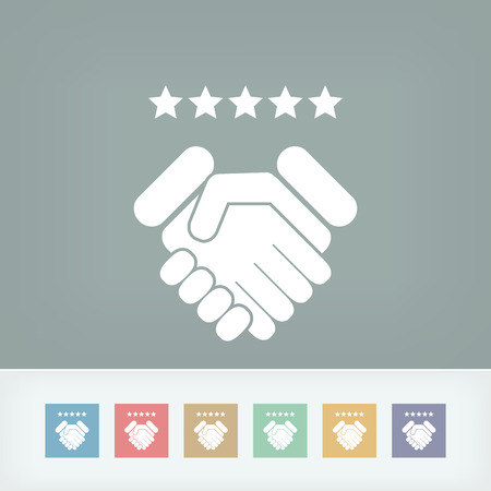 Satisfaction for best service.  イラスト・ベクター素材