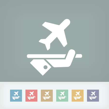excluding: Airplane icon Illustration