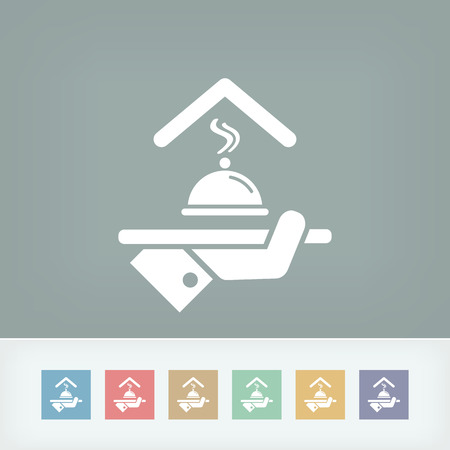 guest house: Hotel icons. Restaurant service. Illustration