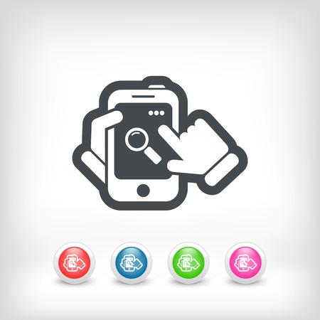 Smartphone icon. File search.