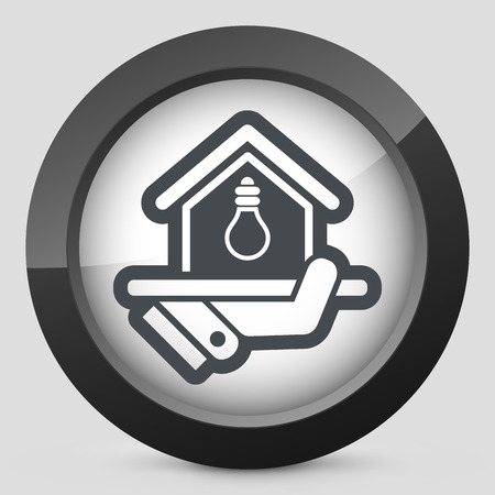 provision: Electricity supply icon Illustration