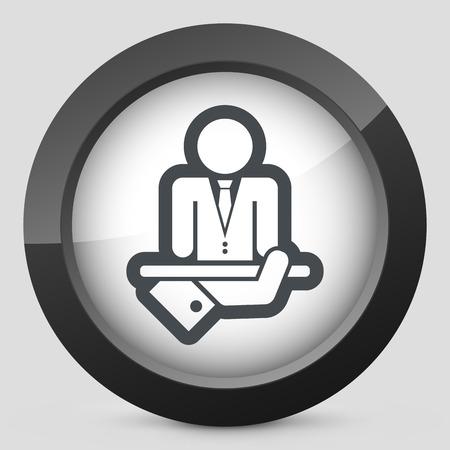 dressy: Hombre de negocios icono Vectores