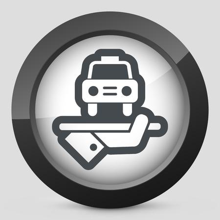 chauffeur: Hotel icon. Car service.