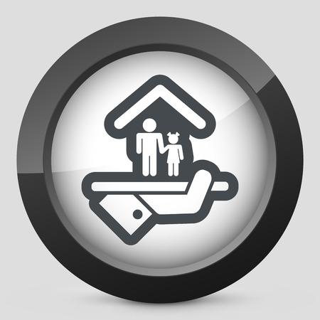 underage: Hotel icon. Services for children. Illustration