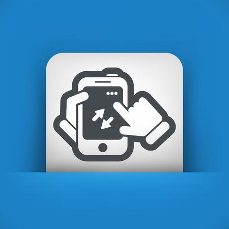 updating: Smartphone icon. File transfer. Illustration