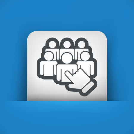 Staff selection icon