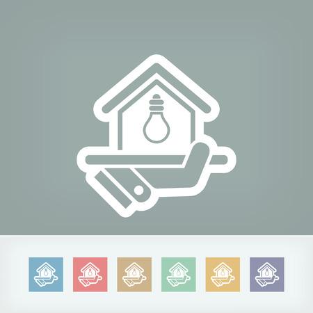alternatively: Icona Alimentazione elettrica