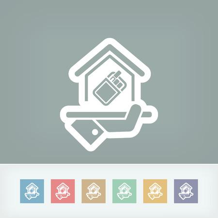 permit: Smoking area icon Illustration