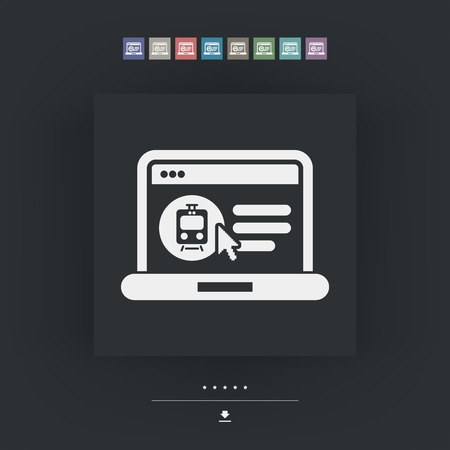 train ticket: Icon of booking train ticket on web agency
