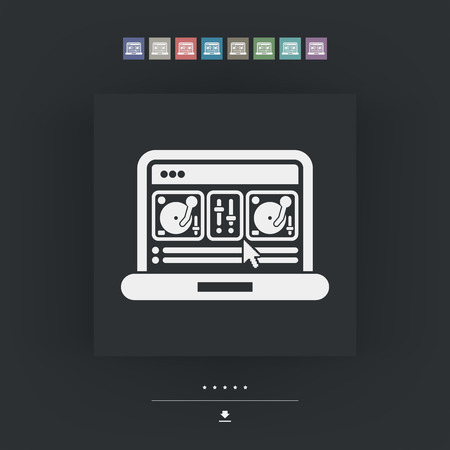 mixing console: Deejay mixing console icon Illustration