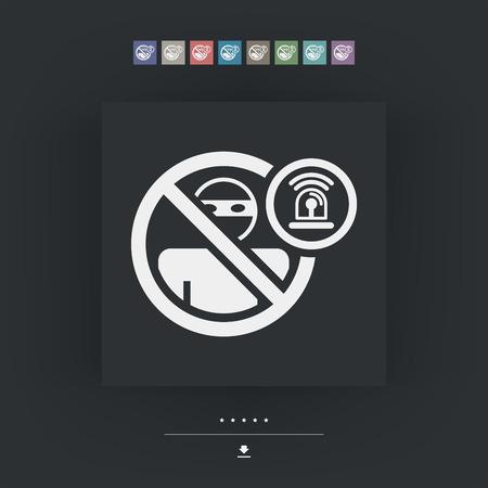 accessing: Icono de alarma Ladr�n Vectores