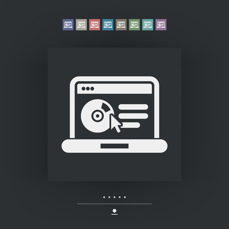office product: Website software icon Illustration