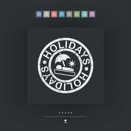 Holidays summer stamp grunge