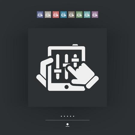 deejay: Touchscreen mixer icon