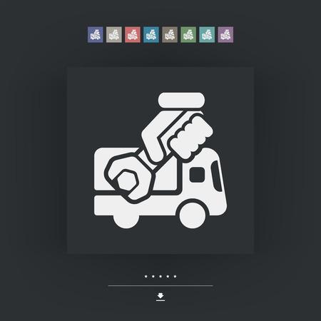 roadside assistance: Assistance van icon Illustration