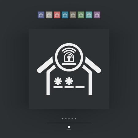 delinquent: House alarm icon