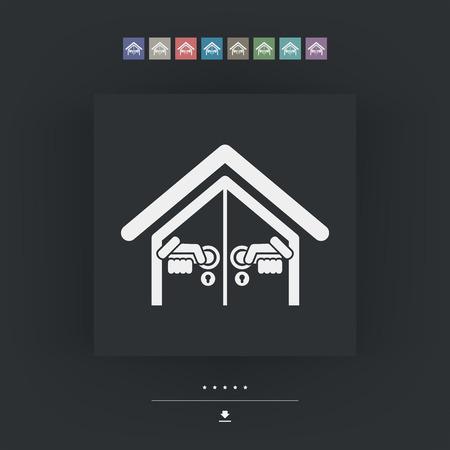 opening: Door house opening Illustration