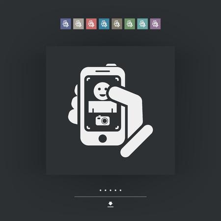 videographer: Digital photo concept Illustration