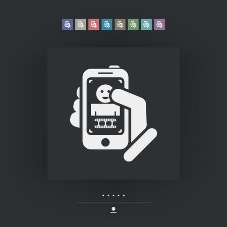 rec: Digital photo concept Illustration
