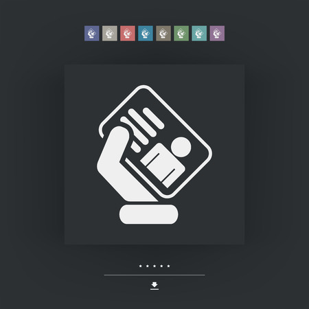 hand holding id card: Id card icon