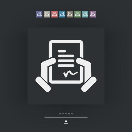 formalize: Document signature icon