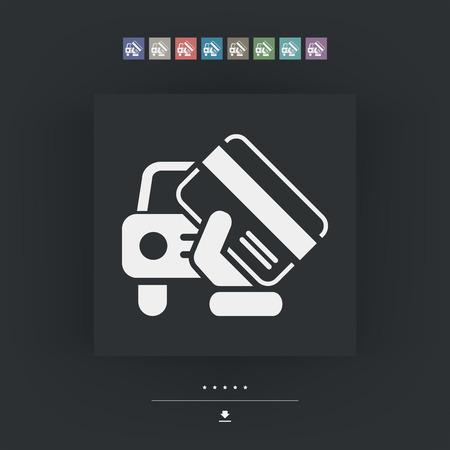 Ikona dokumentu samochodu Ilustracje wektorowe