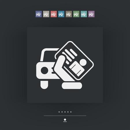 installment: Car document icon