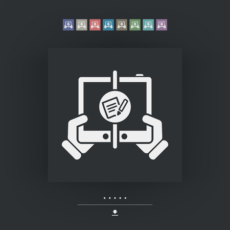 mailer: Notepad web communication Illustration