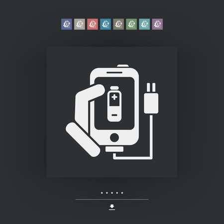 recharging: Phone charge icon