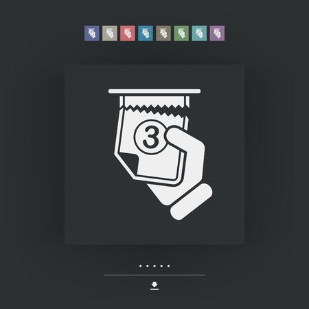 fila de espera: Icono de la cola de entradas